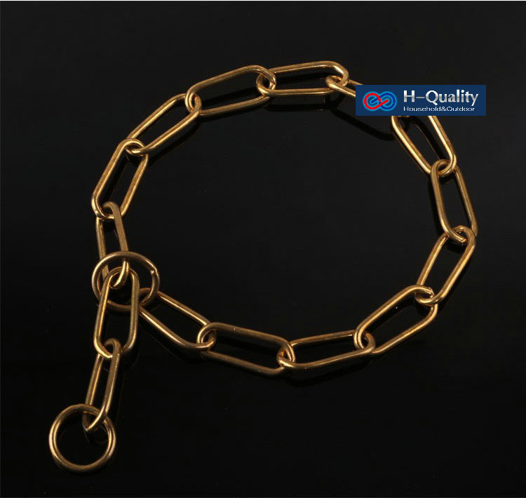 Classic Free Shipping Show Quality Strong Solid Brass 4X750MM Size Dog Chain,Dog-Collar,Snake P Chain Special For Giant Dogs