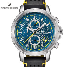 PAGANI Design Mens Watches Fashion Blue Big Dial Military Sport Watch Men Quartz Wrist Watch Chronograph Clock Reloj Hombre 2018 цена в Москве и Питере