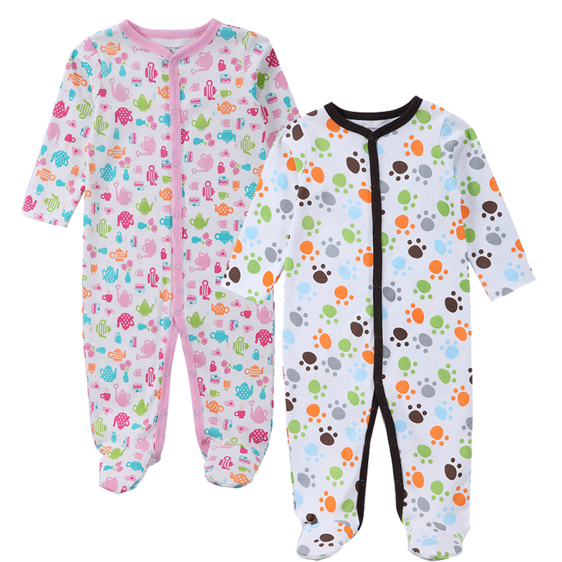 2-Piece Baby Clothing 2017 New Baby Girl Newborn Clothes Long Sleeve Infant Rompers Summer Boy Jumpsuits Baby Product