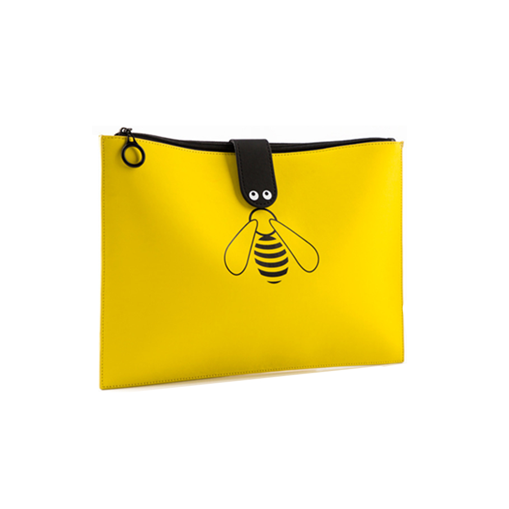 NEW Yellow Buzzing Bee Pencilcase Pencil Bag Cosmetic Zippered Handbag Makeup Storage Organizer Document File Pouch Folder Bag canvas men handbag a4 file folder document bag business briefcase paper storage organizer bag stationery school student gift