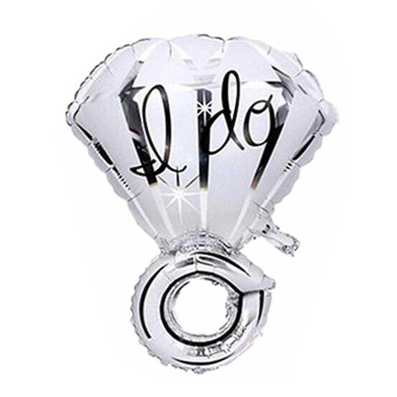 1 ADET 50x70 cm Büyük Balon Elmas Yüzük Folyo Balonlar Şişme Düğün Dekorasyon Helyum Hava Balonu Olay Parti malzemeleri