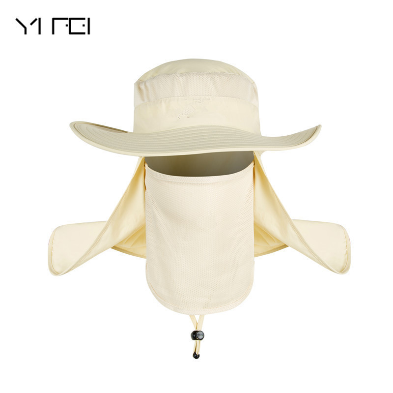 cf9f823177620 YIFEI Fisherman Cap Waterproof Big Bucket Hats with a wide brim New Summer  wind-proof