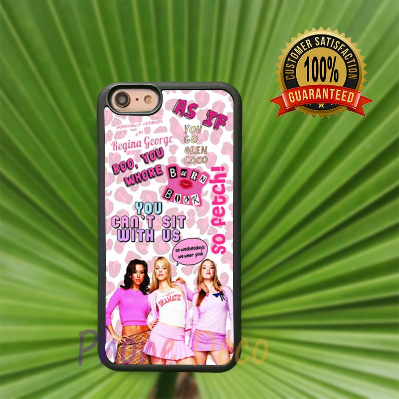 Collage Mean Girls Pink Cheetah fashion cell phone cases for iphone 4 4s 5 5s 5c 7 7 plus 6 6s 6plus 6splus B0524