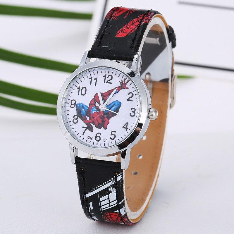 Fashion Brand Cartoon Cute Kids Quartz Watch Children Boys Girls Leather Bracelet Wristwatch Clock 8A05