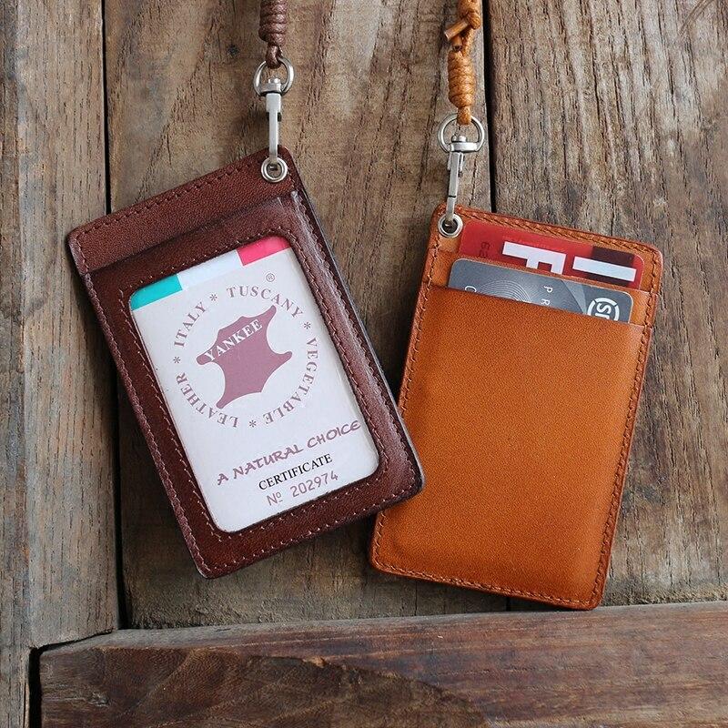 Äkta Läder Business ID / Badge Hållare Namn Märke ID-kort - Plånböcker - Foto 4