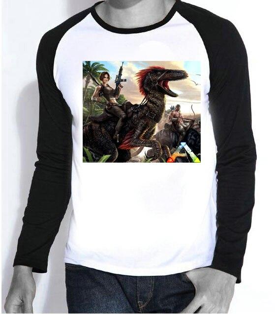 New Mens Game ark survival evolved T-shirt Full Sleeve Fashion ark survival evolved Top Tees tshirt For Teenages