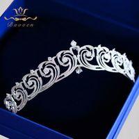 Bavoen alta calidad Sparkling ZIRCON corona de la tiara nupcial hairbands noche Accesorios de pelo