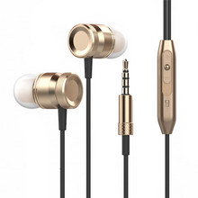 Универсальный из металла бас наушники-вкладыши Универсальный Бег объемного звучания наушники с микрофоном для Samsung MP3 телефон компьютер