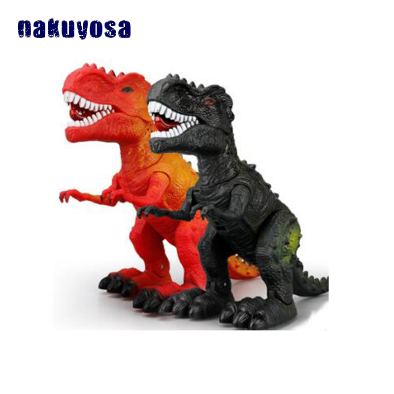 Two Colors Random Delivery Electronic Walking Dinosaur Toy Plastic Educational Dinosaur Toys Gifts for Children
