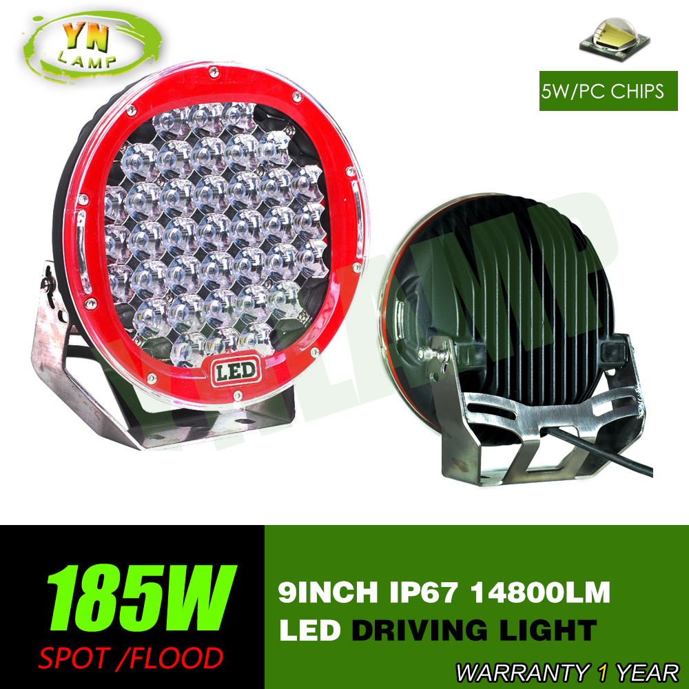 185w 9inch Red round led driving font b light b font led off road font b