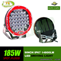 185w 9inch Red round  led driving light ,led off road light led work light for SUV,ATV,UTV ,4D,4X4 use 15000LM