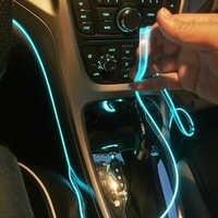 5m acessórios interiores do carro lâmpada atmosfera EL luz fria linha com USB DIY placa de Porta de Console Traço Decorativo LEVOU luz ambiente