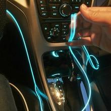 Accesorios de interior de coche, lámpara de Ambiente, luz fría con USB, bricolaje, tablero decorativo, consola, luz LED ambiental automática, 5m