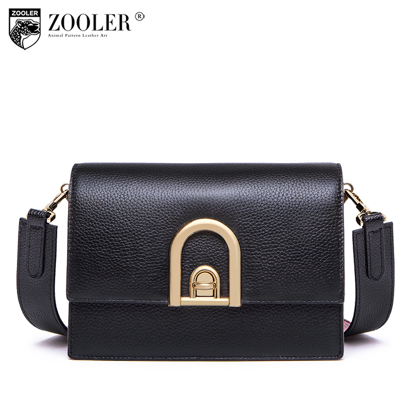 ZOOLER split leather woman messenger bags 2018 royal Fashion travel handbag Chain shoulder Bags Cross body top quality#t511
