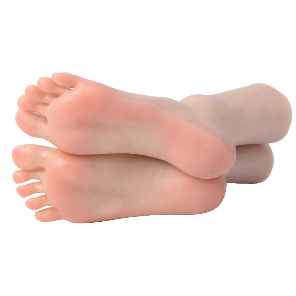 Practice Fake Foot Model Silicone Lifesize Female Mannequin Foot Display Jewerly Sandal Shoe Sock Display Art Sketch