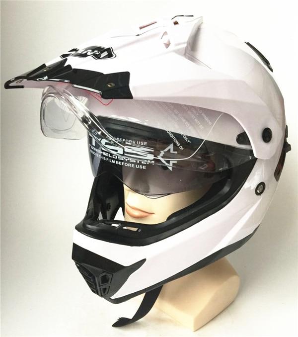 WANLI marques casque Motocross casque double visières DOT approuvé hilldown casque pour hommes ou femmes capacetes de motociclista