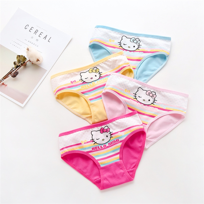 4PCS/lot Baby Girl Child's For Girls Underpants Shorts Nurseries Children's Briefs Underwear Kids Panties