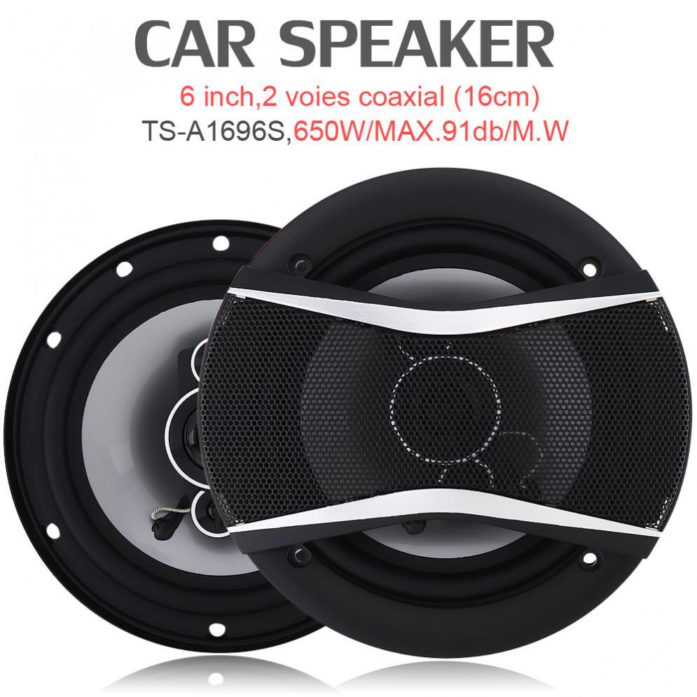 2pcs 6 Inch 650W Auto Car HiFi Coaxial Speaker Vehicle Door Auto Audio Music Stereo Full