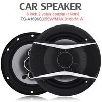 2pcs! 6 Inch 650W Auto Car HiFi Coaxial Speaker Vehicle Door Auto Audio Music Stereo Full Range Frequency Speakers for Cars