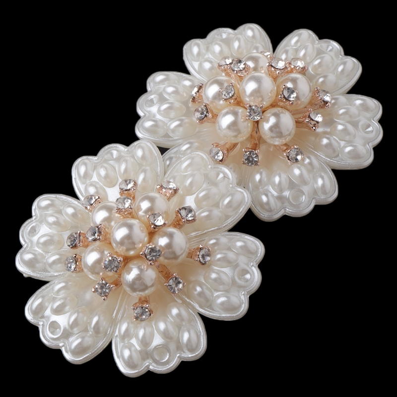 EYKOSI New 2pcs Shoe Decoration Pearl Clothes DIY High Heel Wedding Charms Headwear Fashion Faux Pearl faux pearl