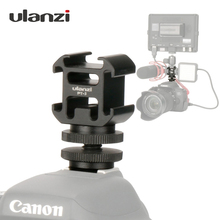 Ulanzi 3 콜드 슈 카메라 마운트 어댑터 BY MM1 마이크가있는 포트 확장 DSLR 카메라 용 LED 비디오 라이트 Canon Nikon Petax