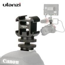 Ulanzi 3 sapato frio adaptador de montagem da câmera estender porta com BY MM1 microfone led luz vídeo para câmera dslr canon nikon petax