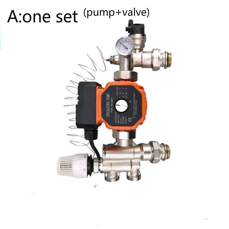DN25 Thermostatic Pump Mixer Blender For Water Underfloor Heating Manifold Mixing Valve Water Mixing Center Water Mixing System