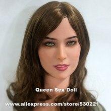 WMDOLL #47 Top qualität realistische sex dolls kopf für realen puppe, oral silikonpuppen erwachsenen köpfe mit zähne, sexspielzeug für männer
