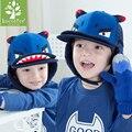 kids Boy Funny Dinosaur Hat Winter Warm Children Hats Baby Dual Balls Ear Wool Baseball Caps Fashion Outdoor Cap For Sports