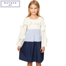 391da0cd4aa4 HAYDEN Girls Long Sleeve Cotton Dress 2018 Spring New Arrival Teenagers Ruffle  Dresses 7 to 14