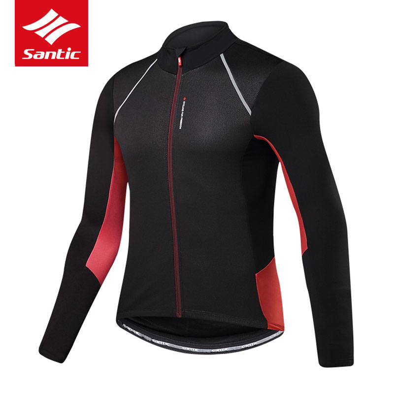 Santic Cycling Jersey Autumn Winter Long Sleeve Thermal Fleece Mountain Road Bike Jersey Men Bicycle Jersey Maillot CiclismoSantic Cycling Jersey Autumn Winter Long Sleeve Thermal Fleece Mountain Road Bike Jersey Men Bicycle Jersey Maillot Ciclismo