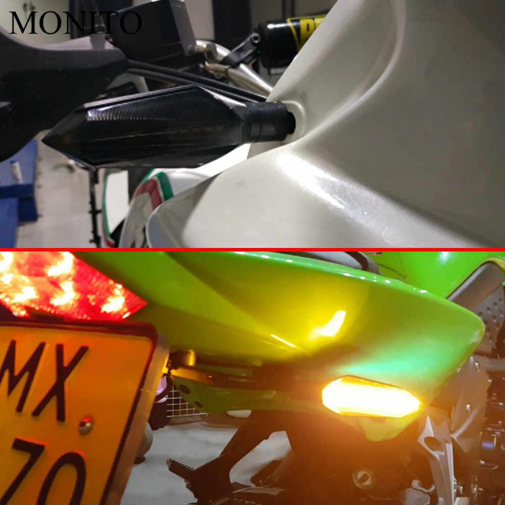 Motor Sinyal Lampu Sein LED Flasher Lampu Peringatan untuk Yamaha XT 600 MT10 MT 09 Pelacak Suzuki Drz/ ltz 400 Bekas Warna Aksesoris