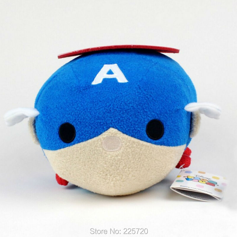 30CM TSUM Captain America Plush Toys TUSM Cute Stuffed Cartoon Pillow Children Cushion