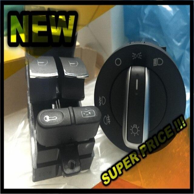 fast shipping Headlight Window Control Switch Button For VW 99-04 GTI Golf 4 Jetta MK4 BORA BEETLE Passat B5 B5.5