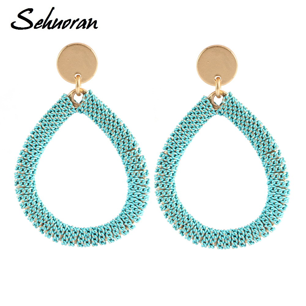 Sehuoran Bohemia Dangle Earrings For Women Accessories New Chain ...