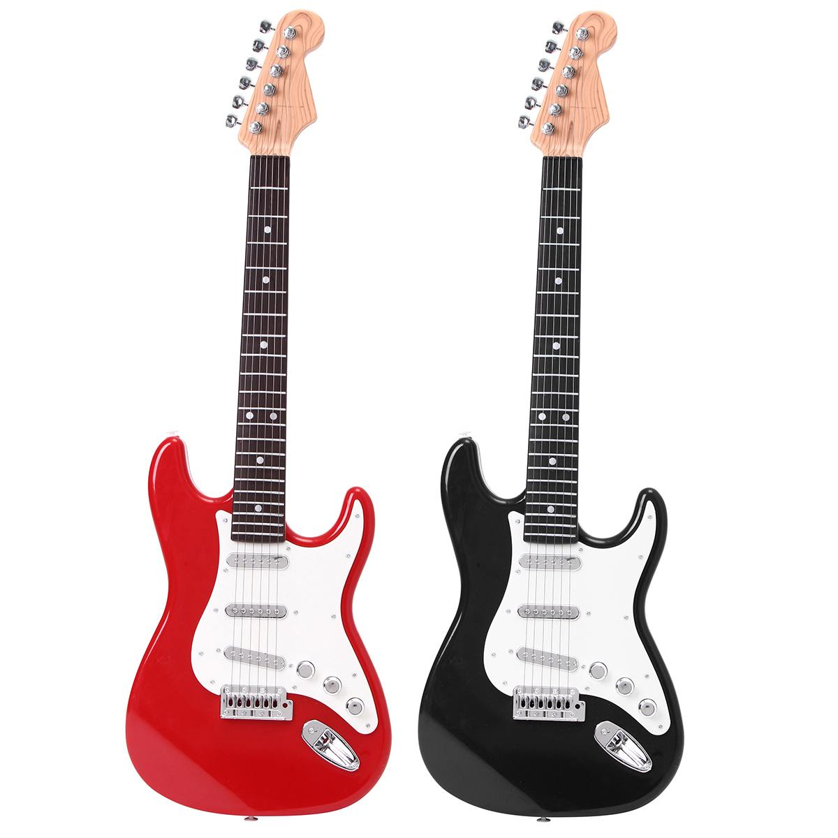 "25"" Children Kids Electric Guitar Acoustic Musical Toys Instrument Early Learning Music Toy Electric Stringed Instrument 2 Color"