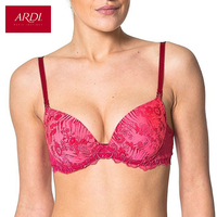 Woman's Bra With A Molded Foam Cups On Frames Jacquard Fabric ARDI R1531 05