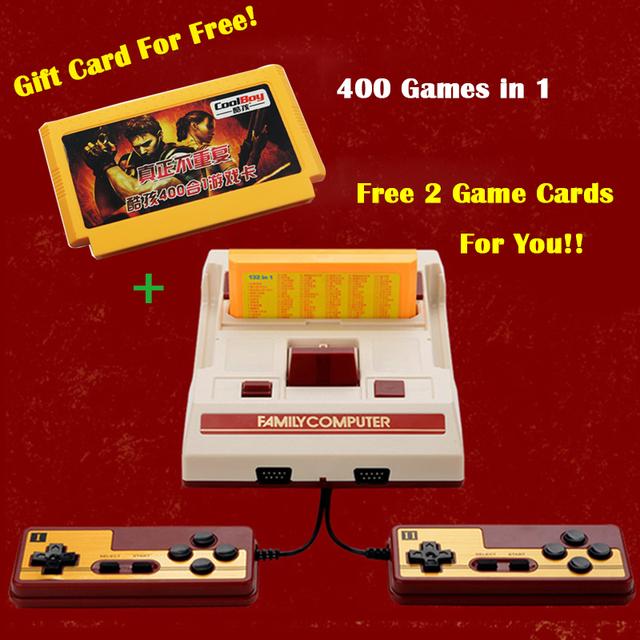 8Bit Clásico Nostálgico Consolas de Videojuegos TV original Tarjeta de jugador del juego de La Familia Fcomputer Juego Con 400 Juegos Gratis Envío Gratis