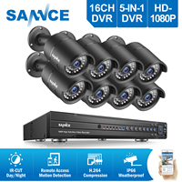 SANNCE 4H 1080P CCTV DVR Recorder 4 HD 1920 1080P In Outdoor Security Camera System 1TB
