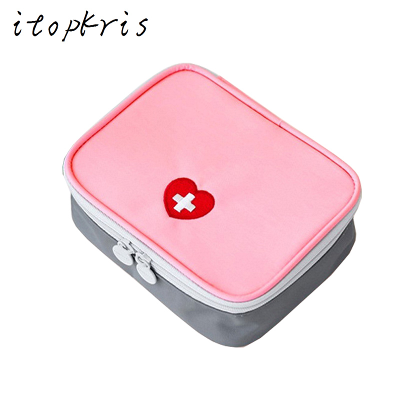 Itopkris Safe Wilderness Survival First Aid Kit Large Capacity Medical Pocket Portable Small Pouch Travel Medecine Rescue Bag portable first aid bag kit pouch home office medical emergency travel rescue case medical package outdoor wilderness survival