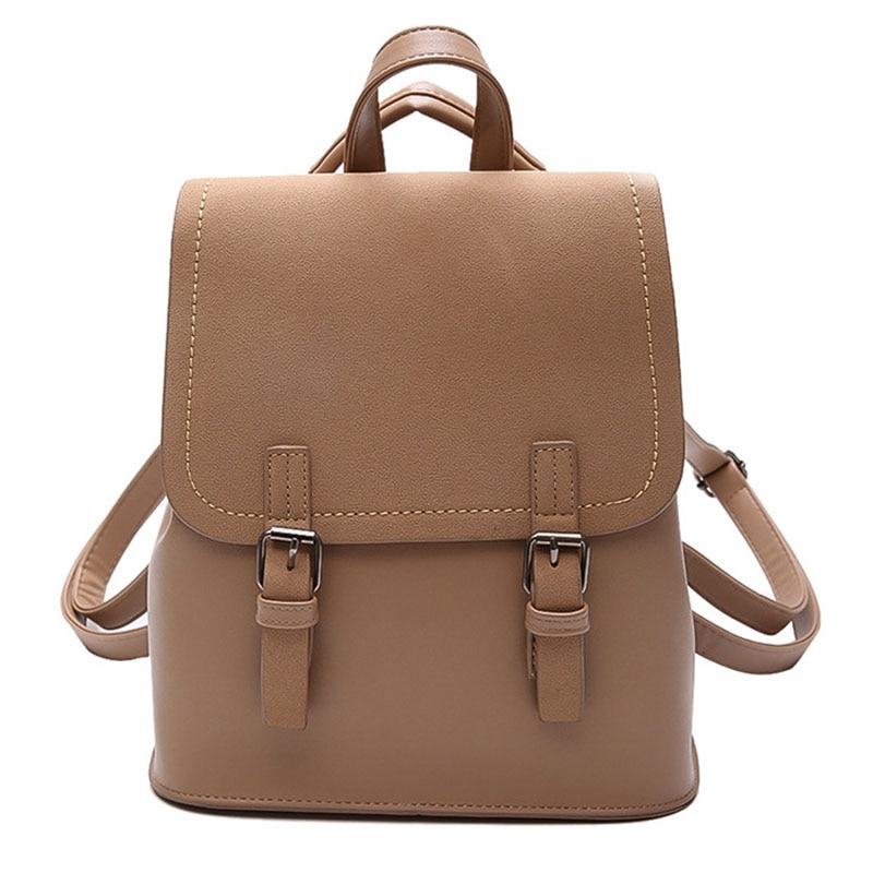 Women'S Patchwork Backpack Sleek Minimalist