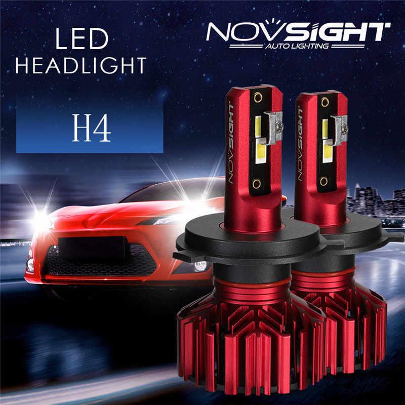 Nighteye/NOVSIGHT H4 60W 10000LM LED Car Headlight Kit Hi/Low Bulb Lamps White  Car Light Light Bulbs Auto Headlamp Lamps