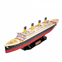 Handmade DIY Cubicfun 3D Paper Puzzle Toy Gift Titanic Ship Models T4011h Adult Child Toys