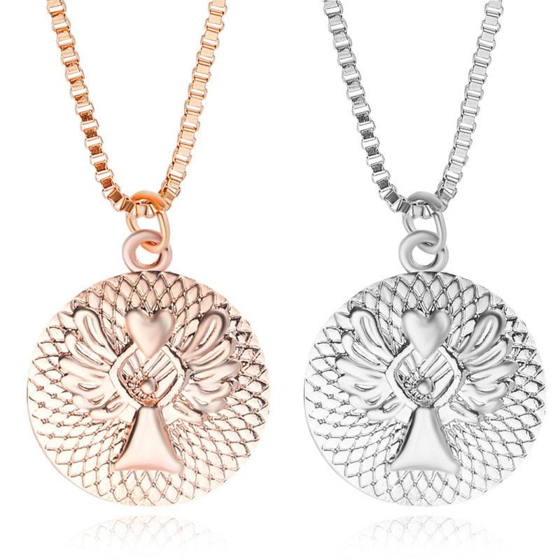 10pcs / lot Trendy Charming Fine Jewelry Guardian Angel Necklace Love Letters 2 Colors Fashion Necklaces