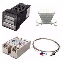Contrôleur de température numérique PID 220V + max.40A SSR + K, ensemble de contrôleurs PID + dissipateur thermique