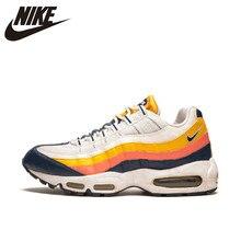 2a63ebd3 Оригинальный Новое поступление Nike Оригинальные кроссовки AIR MAX 95 Для  мужчин дышащие Беговая Спортивная обувь Открытый