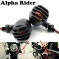 Heavy Duty Slotted Grill Flash Blinker Piscas Luzes para Honda Shadow 500 CB700SC Chopper Bobber Custom Cruiser Motocicleta