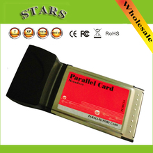 Laptop parallelle poort kaart pcmcia parallelle poort kaart DB25 printer parallelle lpt poort om CardBus PCMCIA PC Card Adapter Converter