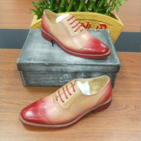 Genuine sheepskin leather brogues yinzo lady flats shoes vintage handmade sneakers blue yellow oxford shoes for women 2019