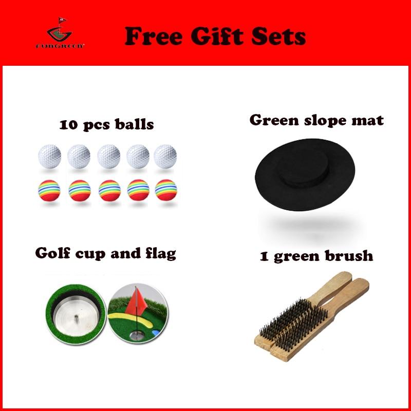 Image 5 - FUNGREEN 3x9 ft Indoor&Outdoor Golf Putting Green Practice Turf Putting Mats Golf Training Green With Free Gift-in Golf Training Aids from Sports & Entertainment